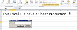 Excel Remove Sheet Protection